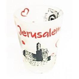 Jerusalem B&W Shot Glass - Short