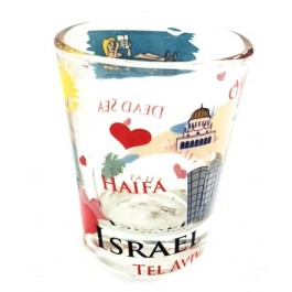 Israel Map Shot Glass - Short
