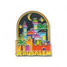 Metal Magnet - colourful Jerusalem