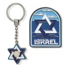 Metal Key Chain-Magnet Combo- Star of David